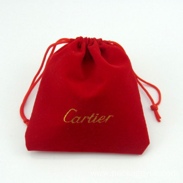 packaging velvet bags custom LOGO printing