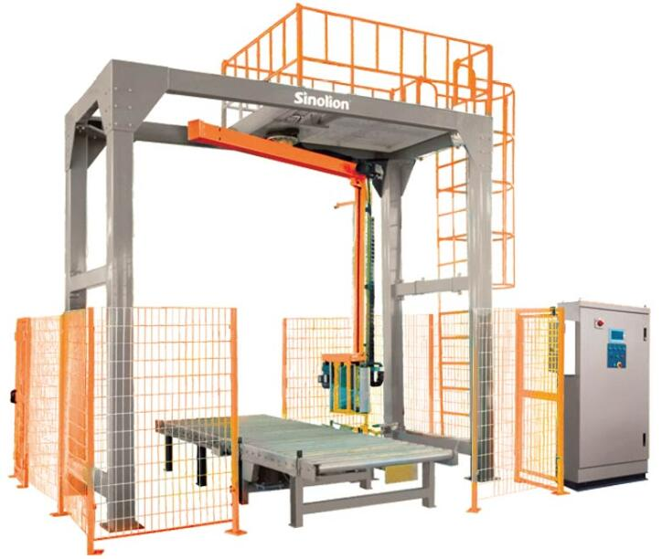 High Efficiency Fully Auto Rotary Pallet Wrapper
