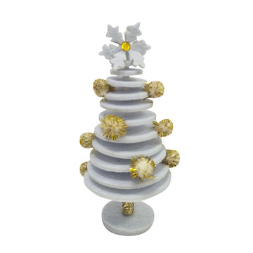 Mini christmas tree with white winter christmas style