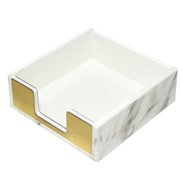 Marble Acrylic Memo Holder with Gold