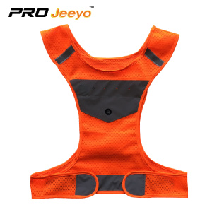 orange reflective running vest