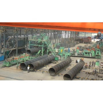 spiral pipe production line