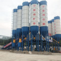 Stationary HZS60 CE belt conveyor concrete batching plant