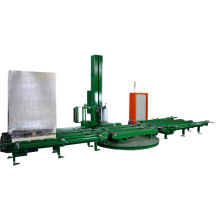 Automatic pallet wrapping machine with Roller