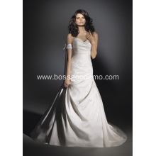 Trumpet Mermaid  Train Satin Beading Wedding Dress