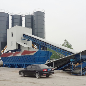 High quality belt type 60m3 concrete batching plant
