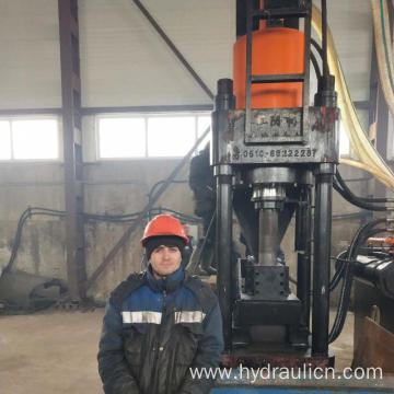 Vertical High Pressure Aluminum Shavings Briquette Machinery