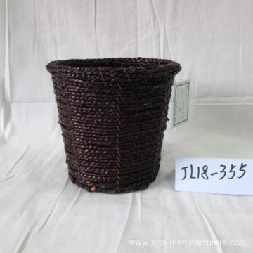 Round Coffee Sea Grass Flower Pot