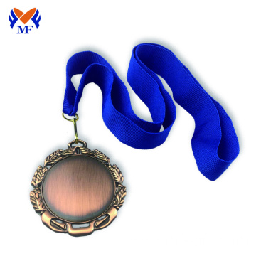 The Blank design bronze award sports medals