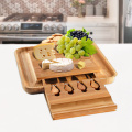 BAMBOO CHEESE BOARD with knife set