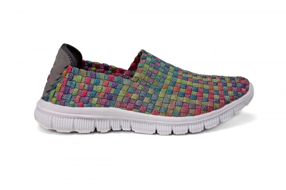 Mosaic Multi-color Woven Loafers