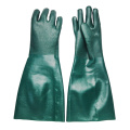 45cm Green Double Dipped PVC Gloves Large