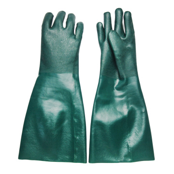 Green 60cm gloves with sandy Finish
