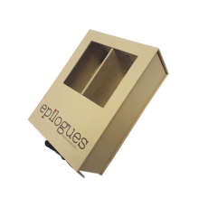 PVC Window Custom Kraft Paper Packaging Gift Box