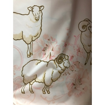 Goat Polyester Pearl Printed Microfiber Fabrics