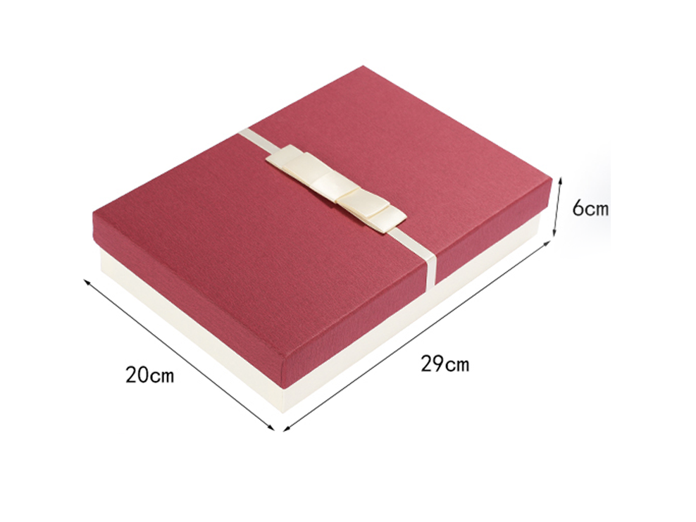 Bowknot Decorated Book Shaped Jewelry Box Custom 1