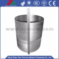 Silver gray Tungsten crucible for vacuum furnace