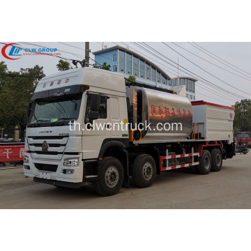SINOTRUCK 23CBM Bitumen และ Gravel Synchronous Seal Truck
