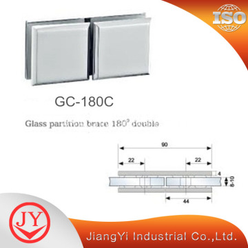 180 Degree Brass Glass Clamp