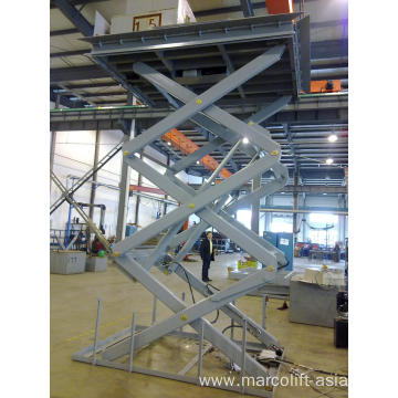 Warehouse dock lift table