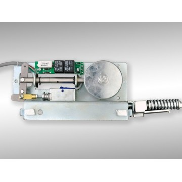 Remote control electronic lock for automatic doors