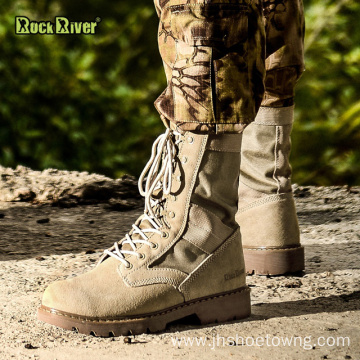 Mens Leather Military Boot Combat Ankle Boots