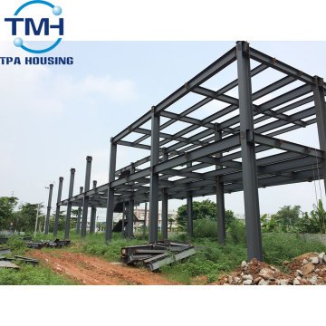 two storey metal prefabricated warehouse