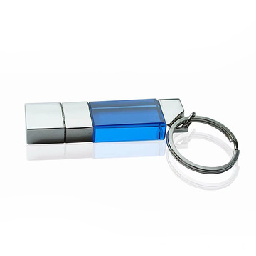 Small Crystal Glass USB Flash Drive 3D Logo
