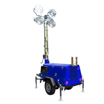 Trailer led moveable inflatable light tower