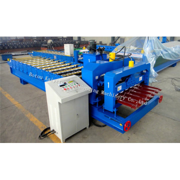 European Step Glazed Roof Tile Roll Forming Machine