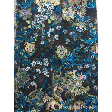 Colorful Big Flower Flat Embroidery Fabric