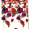 Flower Double Border Rayon Twill Printed Fabrics