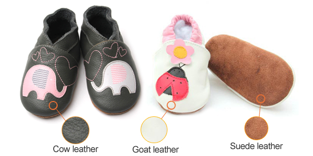 Soft leather shoes materials