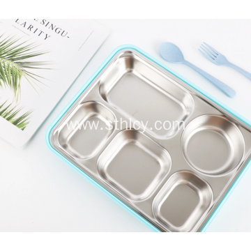 Stainless Steel Retangular Bento Box