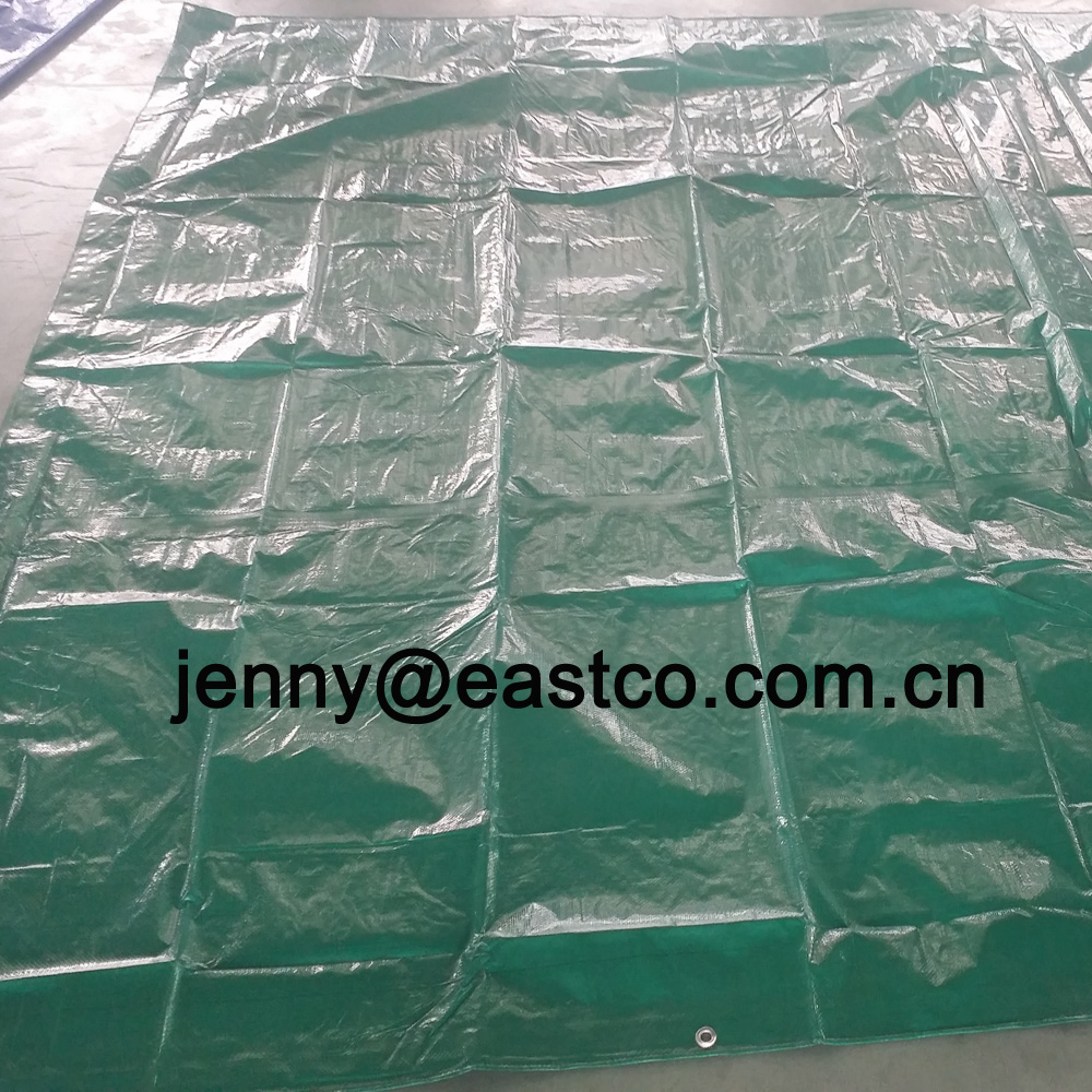 UV Protective Green Construction Tarps