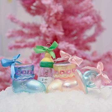 Baby's First Christmas Ornament Glass Customized Xmas Ornament