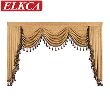 1 Piece European Luxury Valances for Living Room Waterfall Valances for Kitchen Modern Curtains for Living Room Swag Valances