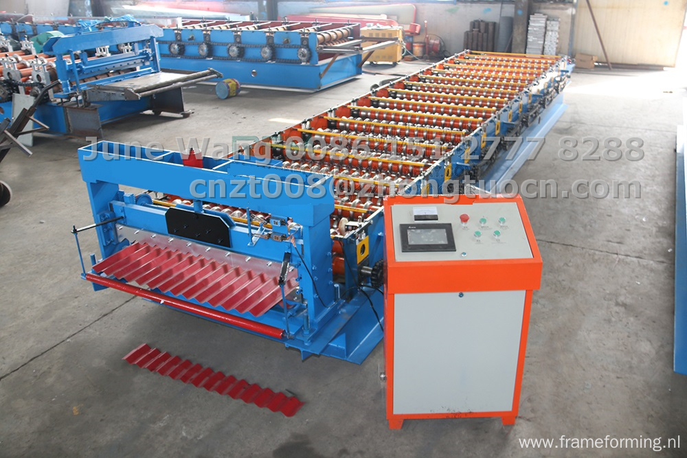 hardness corrugated roof sheet roll forming machine