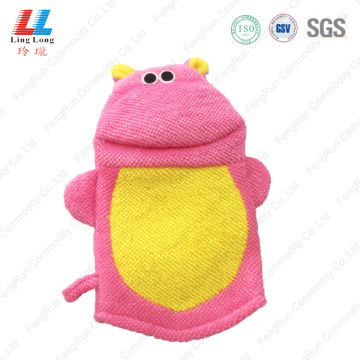 Pink style animal children bath gloves