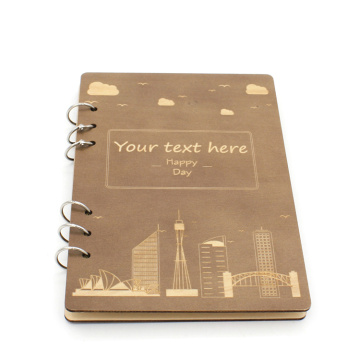 Wholesale Custom A5 Paper Notebook with Wooden Cover