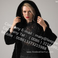 Winter Hooded Kopenhagen Mink Fur Coat Lady