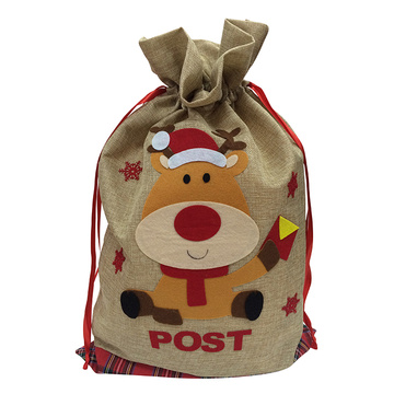Christmas sack with cute reindeer pattern