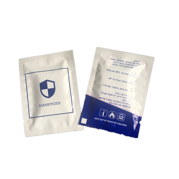 Individual Single Pack Bathroom Disinfectant Cleaning Wipes