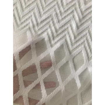 Chevron Polyester Lace Fabric