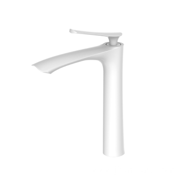 Hot sell brass modern vessel faucet white