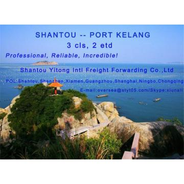 LCL Consolidation Shipping from Shantou to Port Kelang