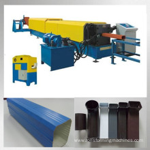 Round square downspout pipe making machine