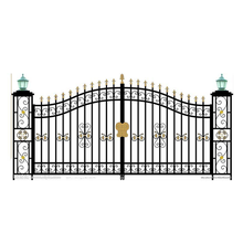 Luxurious home apartment front door wrought iron gate
