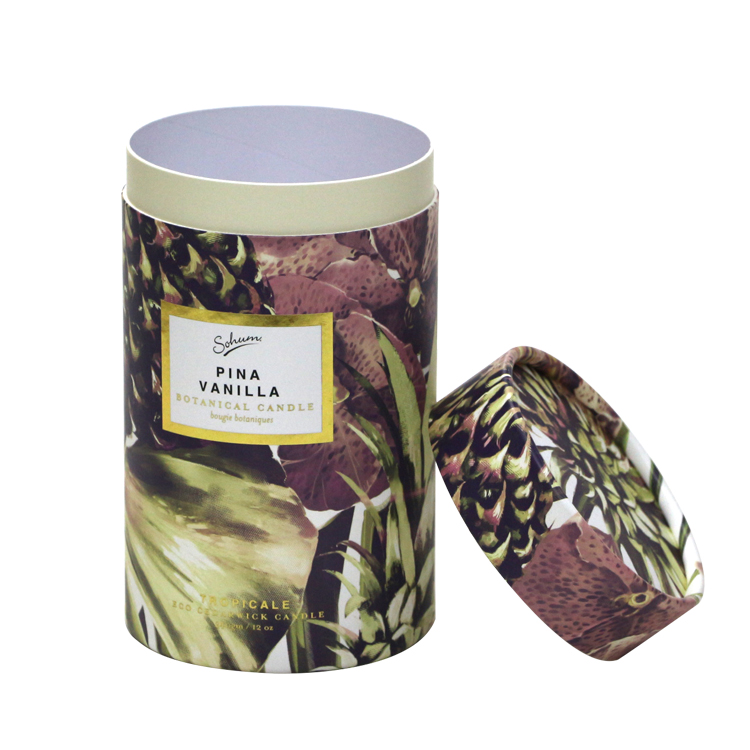 Custom Clothes packaging Round Paper Box Cylinder Box
