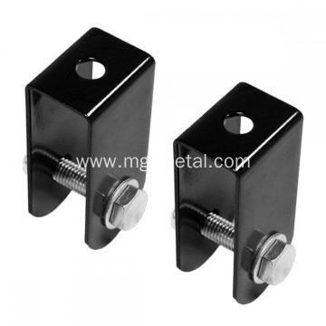 High Quality Custom Black Powder Coating Steel Pulley U Brackets